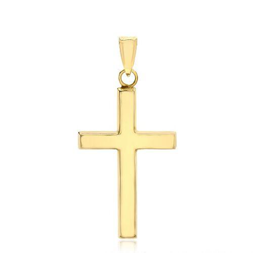9K Yellow Gold Cross Charm Pendant