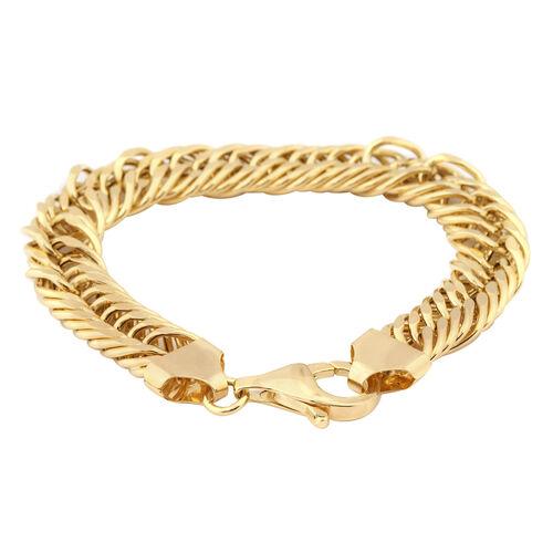 Royal Bali Collection - 9K Yellow Gold Curb Bracelet (Size 8), Gold wt 19.42 Gms.