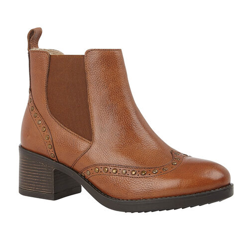 Lotus Tan Leather Lucinda Ankle Boots (Size 6)