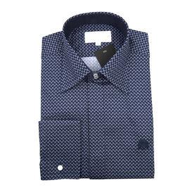 William Hunt - Saville Row Forward Point Collar Dark Blue Shirt (Size 16.5)
