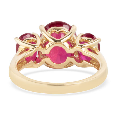 9K Yellow Gold AAA  African Ruby (Ovl) Ring 5.600 Ct.