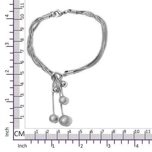 Designer Inspired- Lariat Style Bracelet (Size 8.5) in Stainless Steel