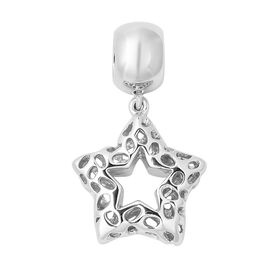 RACHEL GALLEY Rhodium Overlay Sterling Silver Lattice Work Star Charm or Pendant