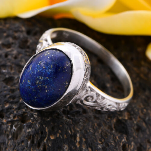 Royal Bali Collection Lapis Lazuli Ring in Sterling Silver 7.50 Ct.