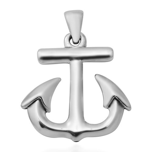 Thai Sterling Silver Anchor Pendant
