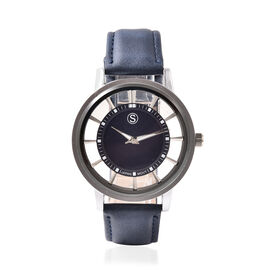 STRADA Japanese Movement Navy Blue Dial Water Resistant Watch with Navy Blue Colour Strap