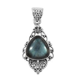 Artisan Crafted Labradorite (Tri) Pendant in Sterling Silver 6.920 Ct.