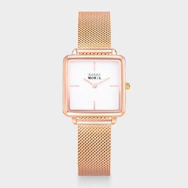 SASHA MOREL Sorrento Mesh Watch - Rose Gold