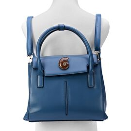 Mermaid Blue Multi-function Ammonite Bag with Adjustable and Removable Shoulder Strap (Size 30x23x9 Cm)