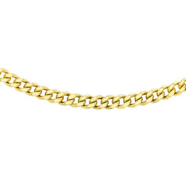9K Yellow Gold Diamond Cut Curb Chain (Size 18), Gold wt 1.30 Gms