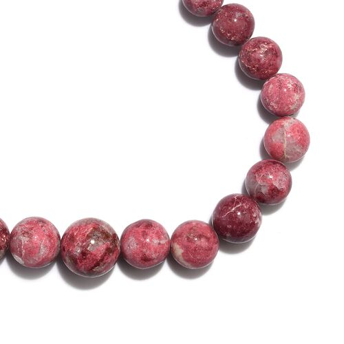 Extremely Rare- AAA Thulite Necklace (Size 18) in Rhodium Overlay Sterling Silver with Magnet Lock 300.00 Ct.