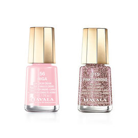 Mavala: Pink Diamond - 215 & Riga - 56 (Duo Mini Colour 2x5ml)