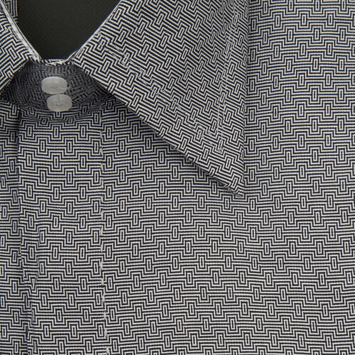 William Hunt - Saville Row Forward Point Collar Black and White Shirt (Size 17)