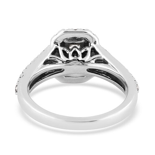 NY Close Out 14K White Gold Diamond (I1-I2/G-H) Ring 0.75 Ct, Gold wt 6.20 Gms