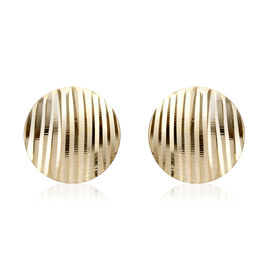Royal Bali Collection 9K Yellow Gold Stud Earrings (with Push Back) Gold Weight 1 Gram
