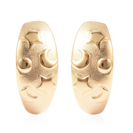 RACHEL GALLEY Sandblast Collection - Yellow Gold Overlay Sterling Silver Celestial Theme Earrings (w