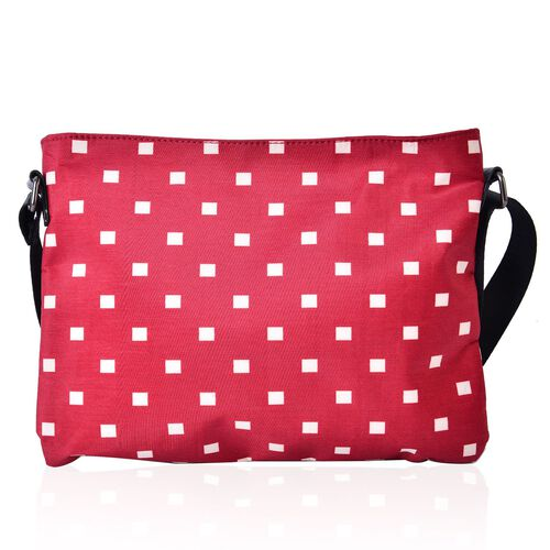 Waterproof Dots Pattern Crossbody Bag with Adjustable Shoulder Strap (Size 28x21.5 Cm)