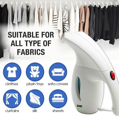 Multi Purpose Portable Handheld Fabric Steamer with Fast Heat Up - 180ml - Colour: White