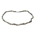 Labradorite Necklace (Size 20) in Rhodium Overlay Sterling Silver 106.00 Ct.
