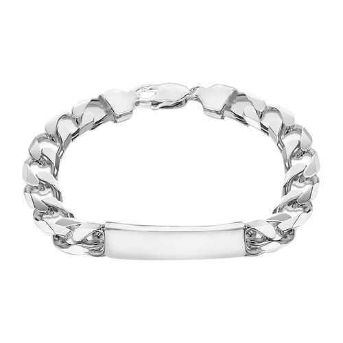 Hatton Garden Close Out ID Curb Bracelet in Sterling Silver 8 Inch