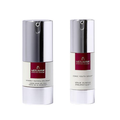 MeruMaya: Iconic Youth Serum - 30ml & Eye Cream - 15ml (With Free Exfoliating Toner & Cleansing Past