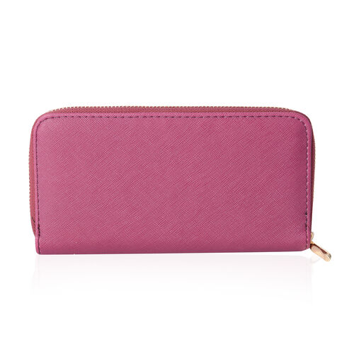 Purple Colour RFID Blocker Wallet (Size 19x10x2.5 Cm)