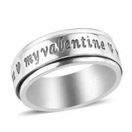 Sterling Silver Stackable My-Valentine Engraved Ring