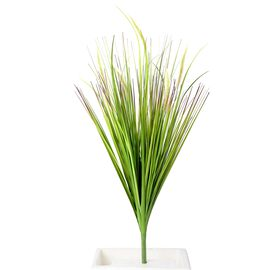 Home Decor - Artificial Setaria Viridis Grass (Size 100 Cm) - Green and Off White
