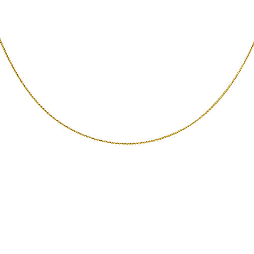 Italian Made 18 Inch Diamond Cut Spiga Chain in 9K Gold 1.21 Grams