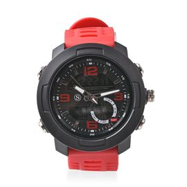 STRADA Japanese and Electronic Movement 5ATM Water Resistant Sports Watch in Stainless Steel with Re
