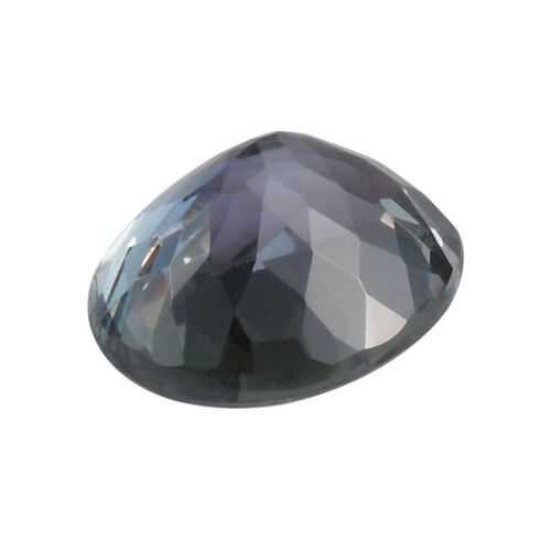 Peacock Tanzanite Oval 9x7 Faceted 1.67 Cts