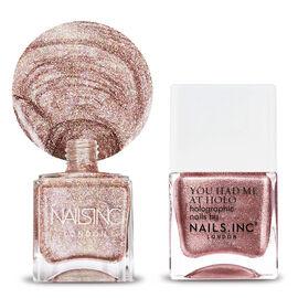 Nails Inc: Pink Gold Glitter -14ml & Straight to my head -14X2 ML