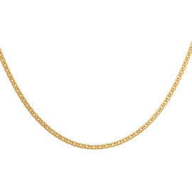 Italian Made - 9K Yellow Gold Double Curb Necklace(Size 18)