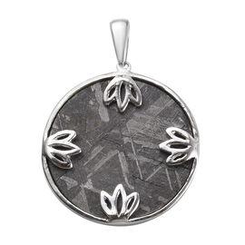 Meteorite (Rnd) Pendant in Platinum Overlay Sterling Silver 26.00 Ct.