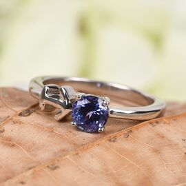 AA Tanzanite Zodiac-Sagittarius Ring in Platinum Overlay Sterling Silver 0.50 Ct.