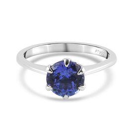 RHAPSODY 1.50 Ct AAAA Tanzanite Solitaire Ring in 950 Platinum 3.75 Grams