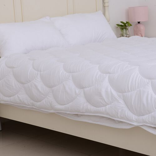Luxury Edition - 4 Season Luxury Anti Bacterial Quilted Duvet with Faux Down Hollowfibre Filling in King Size (225x220 cm) Oeko-Tex tested