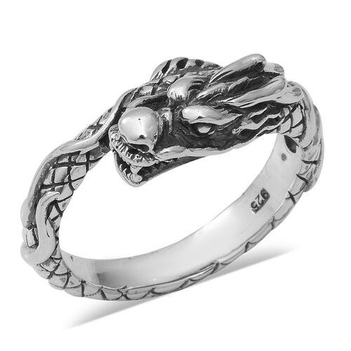Dragon Head Ring in Thai Sterling Silver