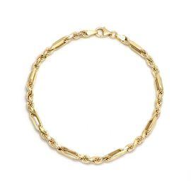 9K Yellow Gold Figaro Rope Bracelet (Size - 7.5), Gold Wt. 4.00 Gms
