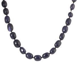 One Time Mega Deal-Rare Size Blue Sandstone Adjustable Beads Necklace (Size 20 - 32) 465.000 Ct.