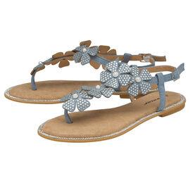DUNLOP Rae Floral Embellished Sandals - Dusky Blue