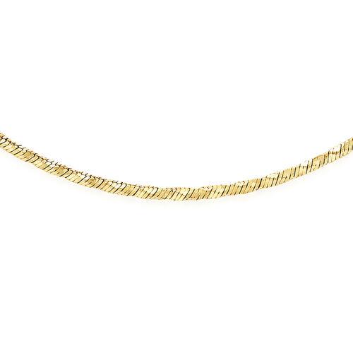 18 Inch Long Diamond Cut Snake Chain in 9K Yellow Gold 6.40 Grams