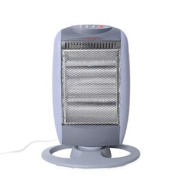 Winter Clearance Deal - Grey and White Colour Electronic Fan Heater with Wide Angle Radiant Electric
