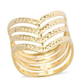 Surabaya Gold Collection- 9K Yellow Gold Wishbone Ring