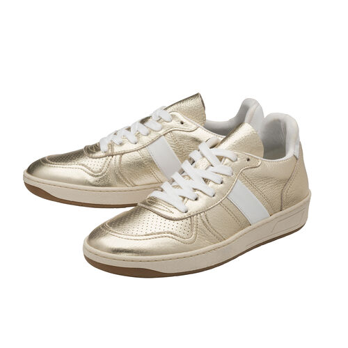 Ravel Coen Leather Trainers (Size 8) - Champagne