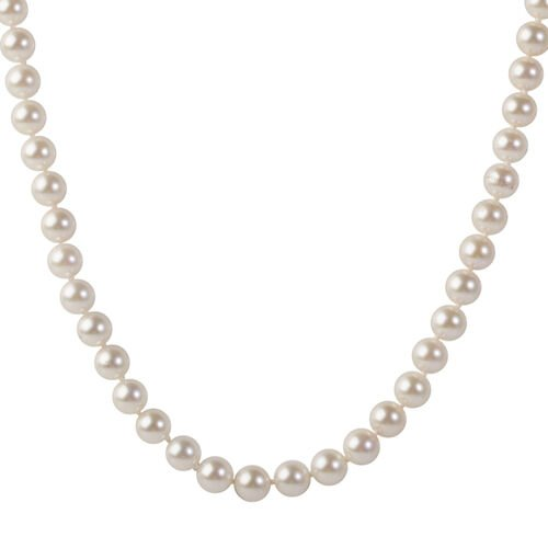 Collectors Edition- 9K Yellow Gold Japanese Akoya Pearl Necklace (Size 18)