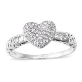 Designer Inspired- Elanza Simulated Diamond (Rnd) Sterling Silver Ring