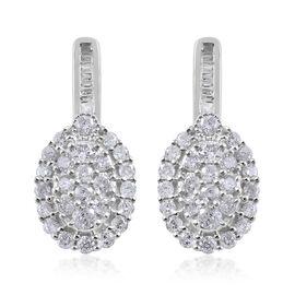 9K White Gold SGL CERTIFIED Diamond (Rnd) (I3 / G-H) Earrings (with Push Back) 1.00 Ct.
