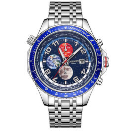 GAMAGES OF LONDON Limited Edition Hand Assembled Astronomer Automatic Steel - 45mm - Water Resistant