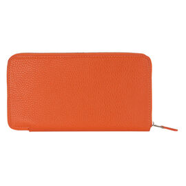 Kris Ana Single Zipper Purse - Orange